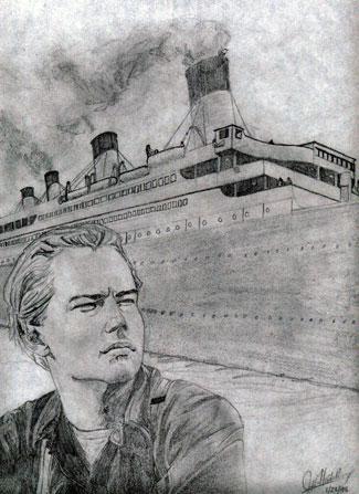 leonardo dicaprio titanic drawing. Leonardo DiCaprio#39;s Jack